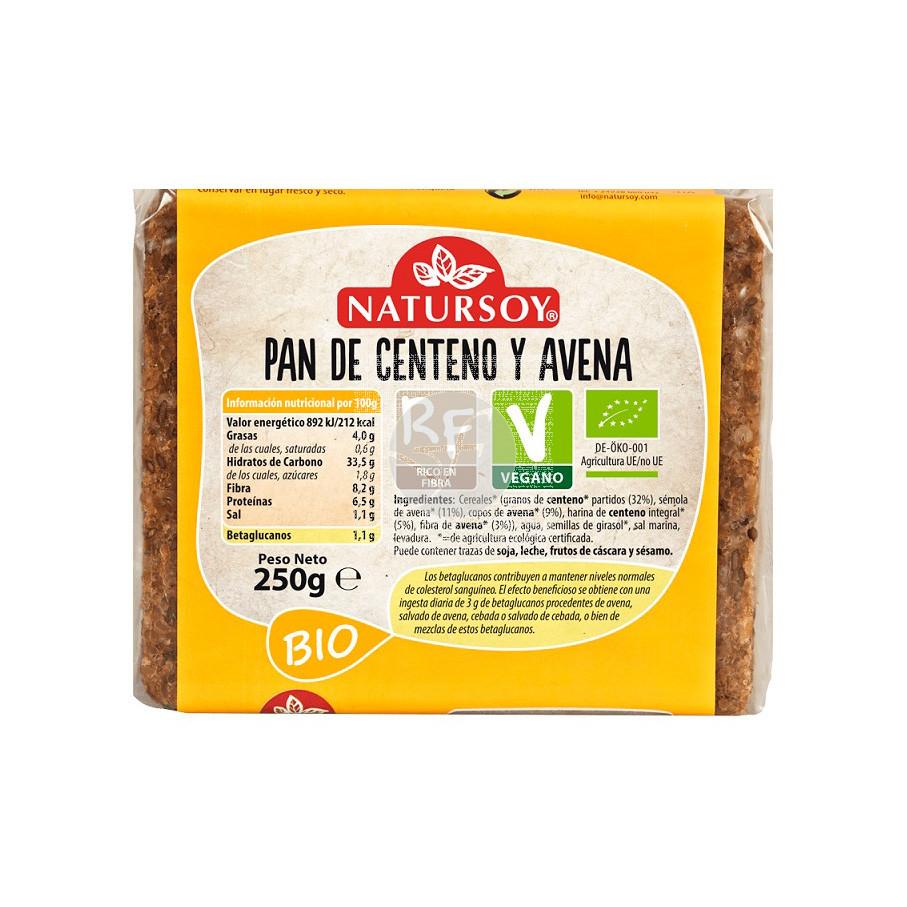 PAN DE CENTENO Y AVENA BIO VEGANO NATURSOY