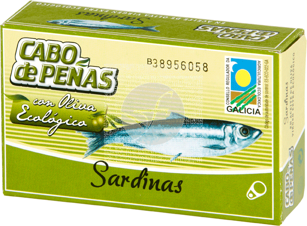 SARDINAS EN ACEITE DE OLIVA ECO CABO DE PEÑAS