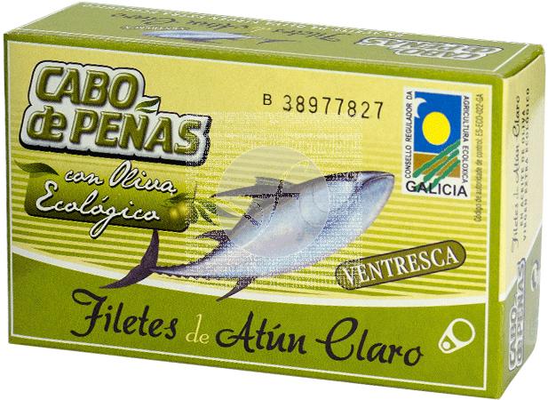 VENTRESCA DE ATUN CLARO EN ACEITE DE OLIVA VIRGEN ECO CABO DE PEÑAS