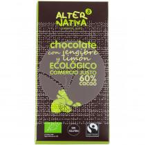 CHOCOLATE CON JENGIBRE Y LIMON 60% CACAO BIO ALTERNATIVA 3