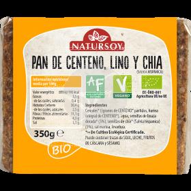 PAN DE CENTENO LINO CHICA BIO VEGANO NATURSOY