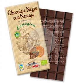 CHOCOLATE NEGRO 56% CON NARANJA ECO CHOCOLATES SOLE