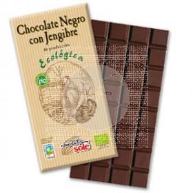 CHOCOLATE NEGRO 56 CON JENGIBRE ECO CHOCOLATES SOLE