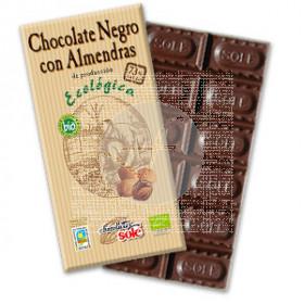 CHOCOLATE NEGRO 73% CON ALMENDRAS ECO CHOCOLATES SOLE