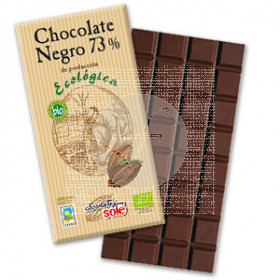 CHOCOLATE NEGRO 73 CON AGAVE ECO CHOCOLATES SOLE