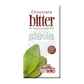 CHOCOLATE BITTER NEGRO 72 CON STEVIA CHOCOLATES SOLE