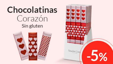 Febrero - Chocolatinas corazón Simon Coll