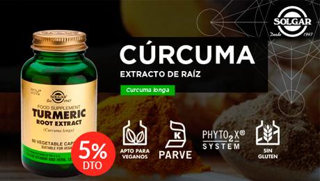 Marzo - Curcuma extracto de raiz Solgar