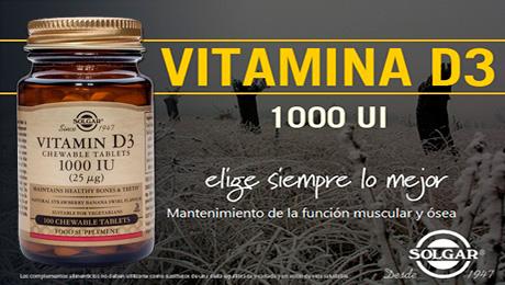 Enero - Vitamina D3 Solgar