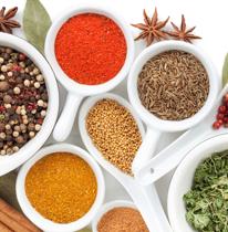 Aceites, vinagres, salsas y especias
