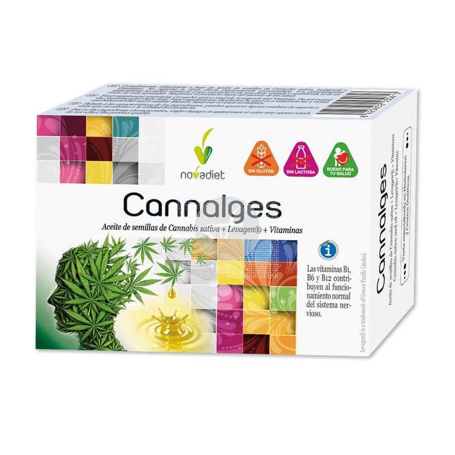Cannalges Sin Gluten 30 capsulas Nova Diet