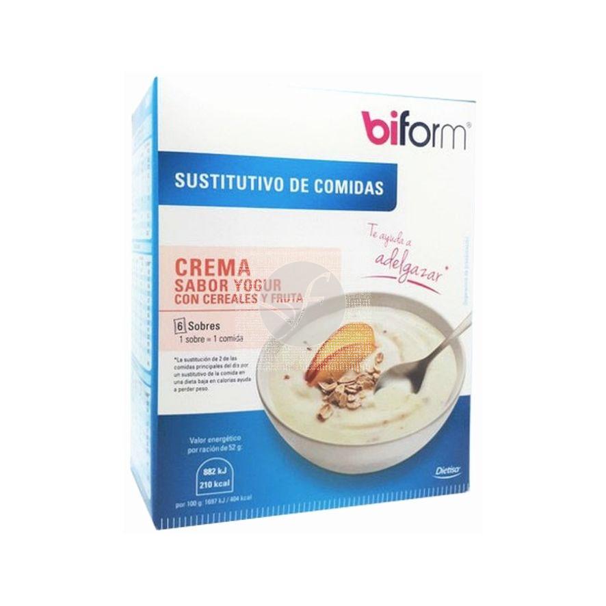 Crema Sustitutivas sabor yogur con Cereales y Frutas Biform Dietisa