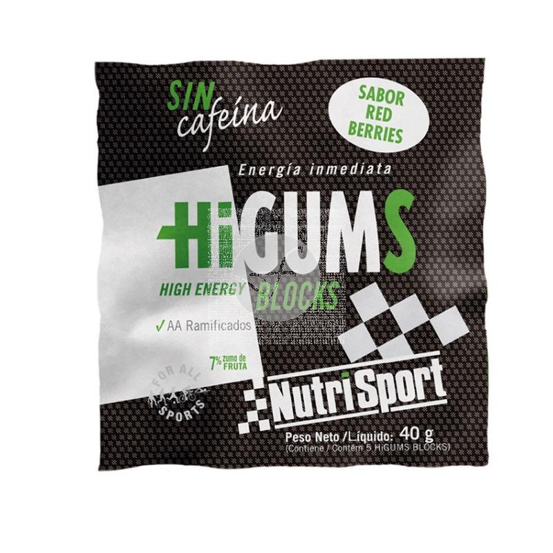 Higums Blocks Red Berris sin Cafeina NutriSport