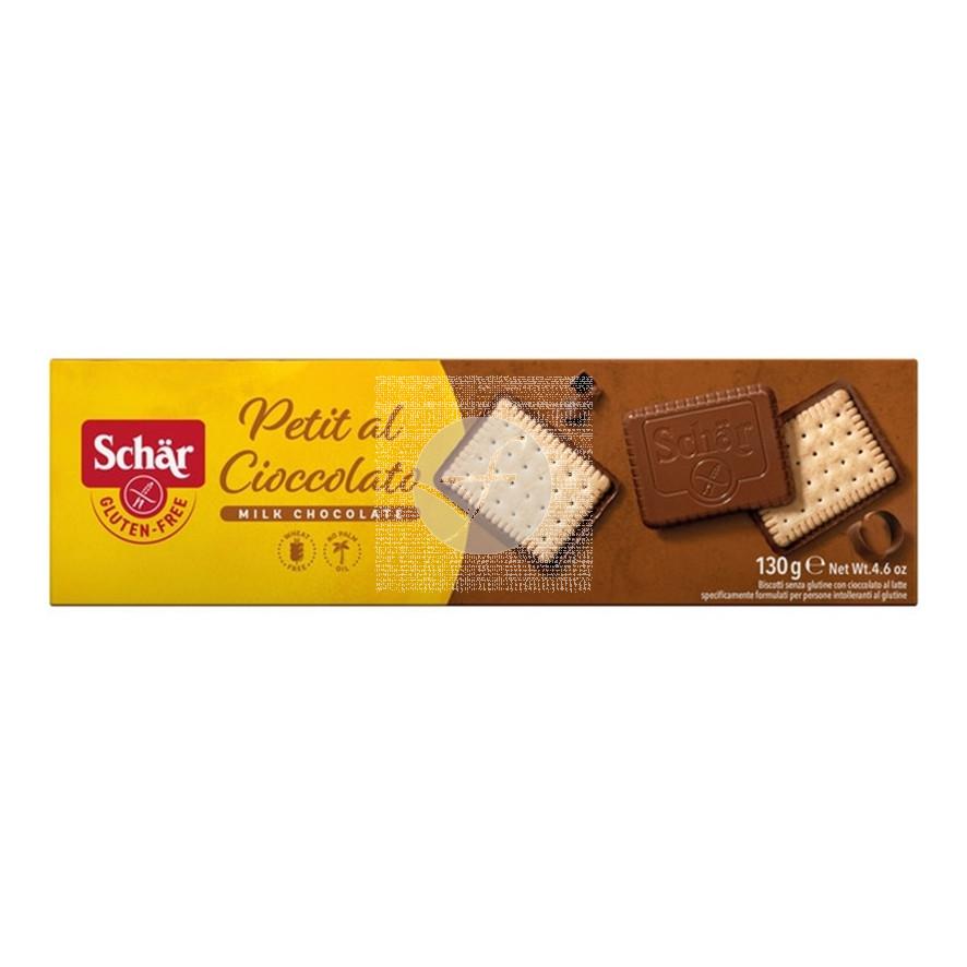 Petit Al Cioccolato Galletas con Chocolate sin gluten 130Gr Dr. Schar