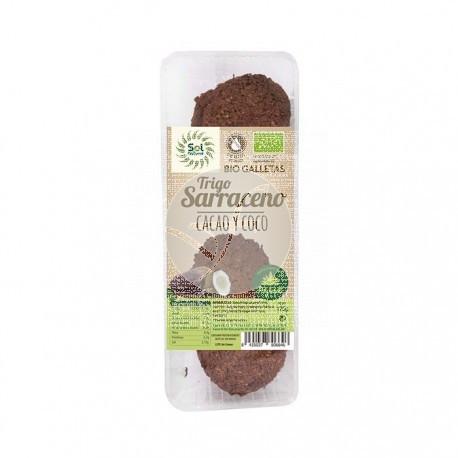Galletas De Trigo Sarraceno Coco y Cacao Bio Solnatural