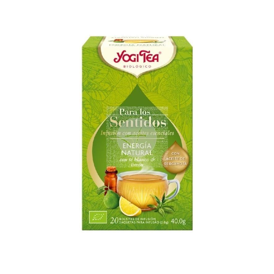 Infusion Para los Sentidos Energia Natural 20 Bolsitas Eco Yogi Tea