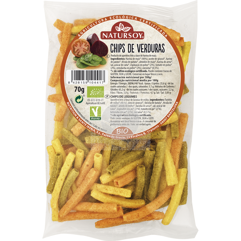 Chips De Verduras Bio Vegano Natursoy