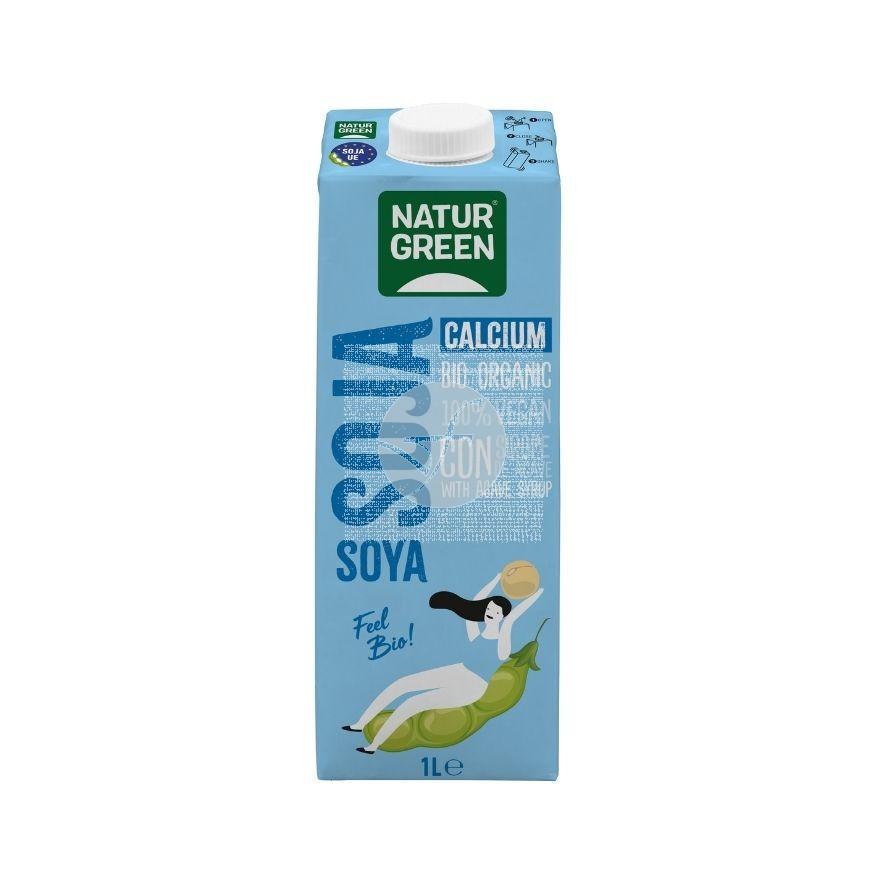 Bebida Vegetal De Soja con Calcio Bio 1L NaturGreen
