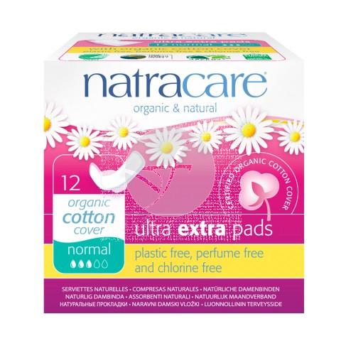 Compresa Ultra Extra Normal con Alas Natracare