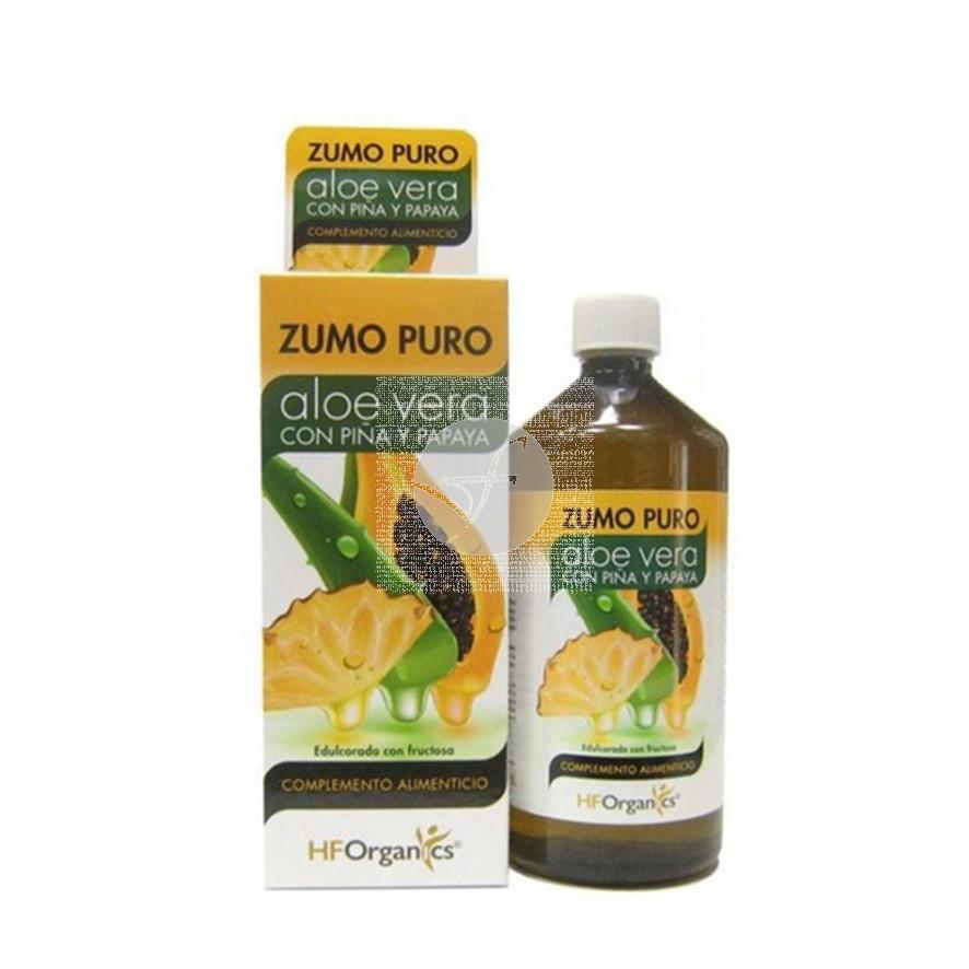 Zumo puro de Aloe Vera con Piña y Papaya 1l Herbofarm