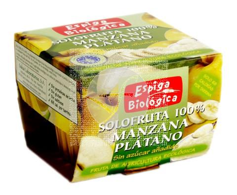 Compota de Manzana y Plátano Bio sin azúcar Espiga Bio