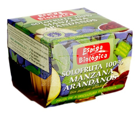 Compota de Manzana y Arándanos Bio sin azúcar Espiga Bio