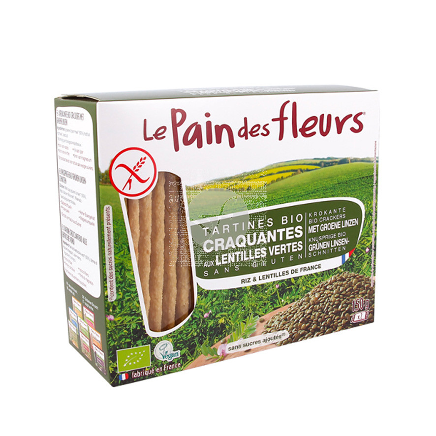 Tostadas Lentejas Verdes Sin Gluten 150gr Le Pain Des Fleurs