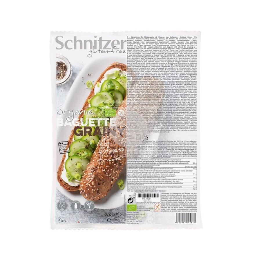 Pan Baguette con Semillas sin gluten Schnitzer