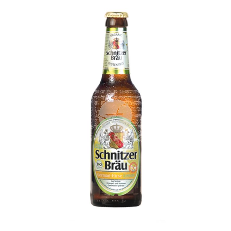 Cerveza mijo limón Sin Gluten 330ml Schnitzer