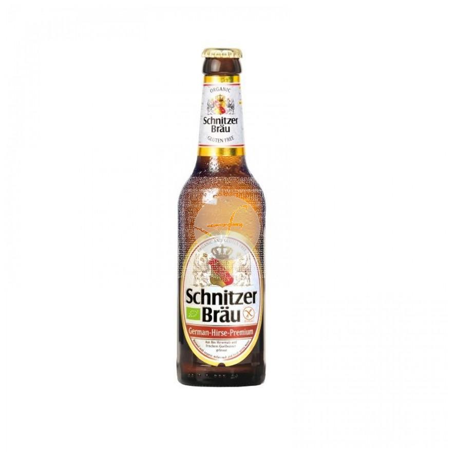 Cerveza mijo sin gluten 330ml  Schnitzer