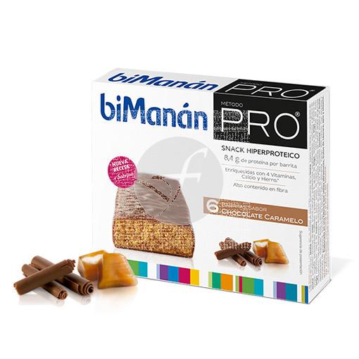 Barritas Proteinas Chocolate Caramelo Bimanan Pro