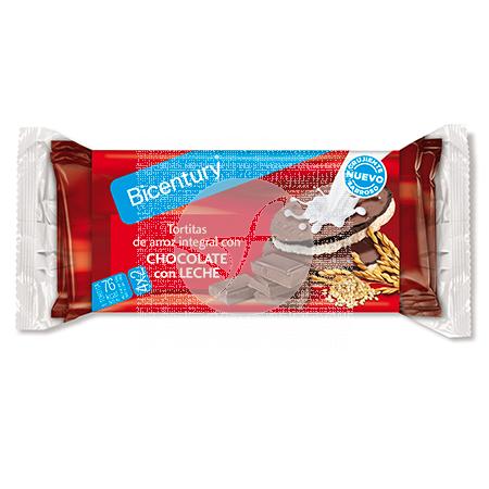 Tortitas De Arroz integral con Chocolate con Leche Bicentury