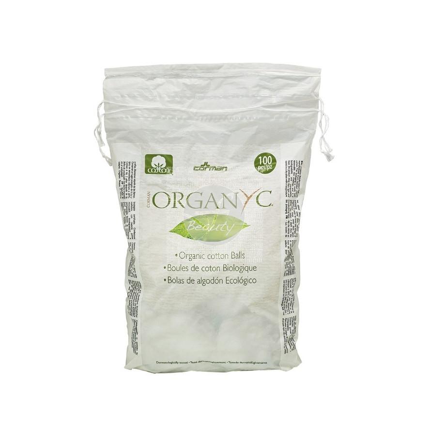 Bolas de Algodón Organico 100uds Organyc