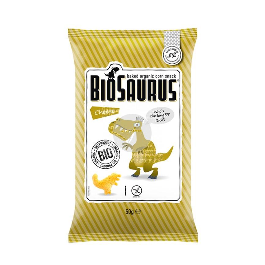Snacks Queso Biológico sin gluten 50Gr Biosaurus