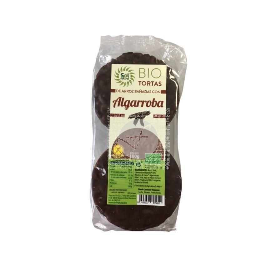Tortas De Arroz Bañadas con Algarroba Bio 100gr Solnatural