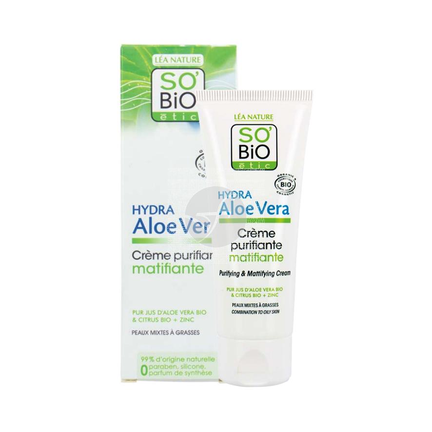 Crema matificante purificante 50ml So' Bio Etic
