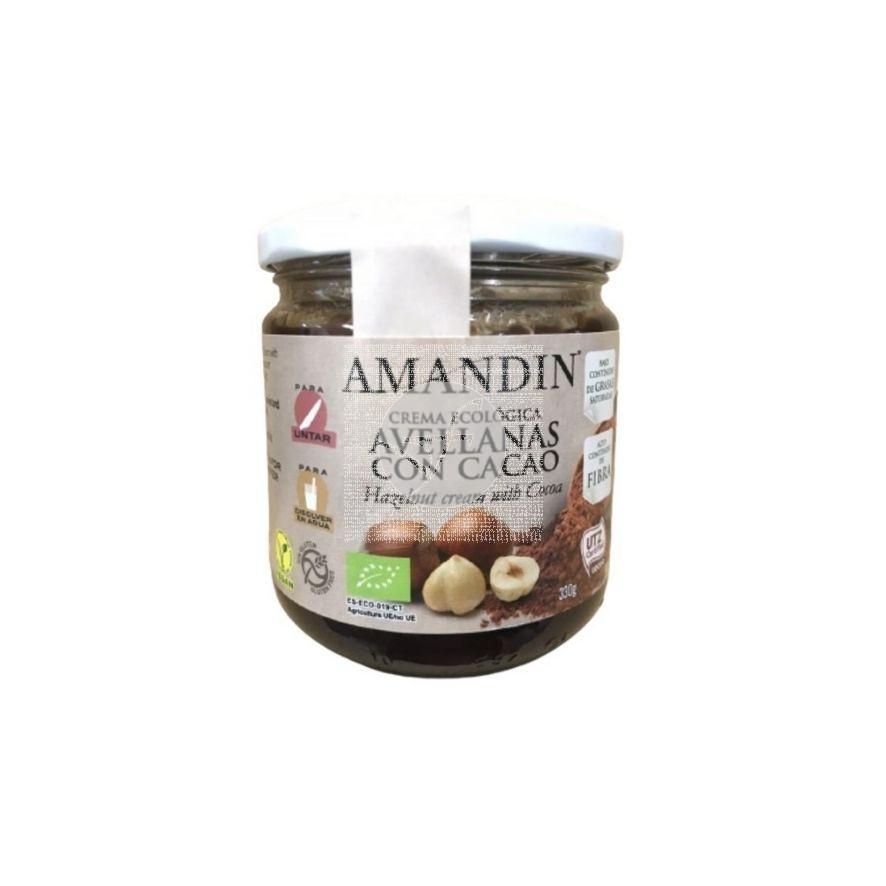 Crema De Avellanas con Cacao Eco Amandin