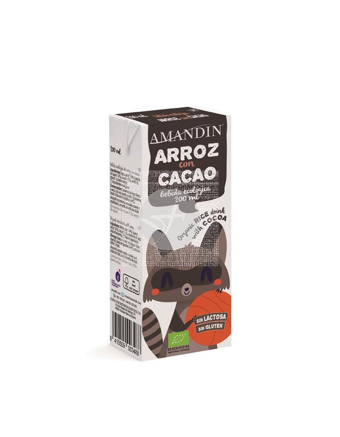 Bebida Arroz con Cacao Infantil Eco 200ml Amandin