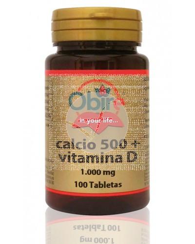 Calcio 500 + Vitamina D 100 comprimidos Obire