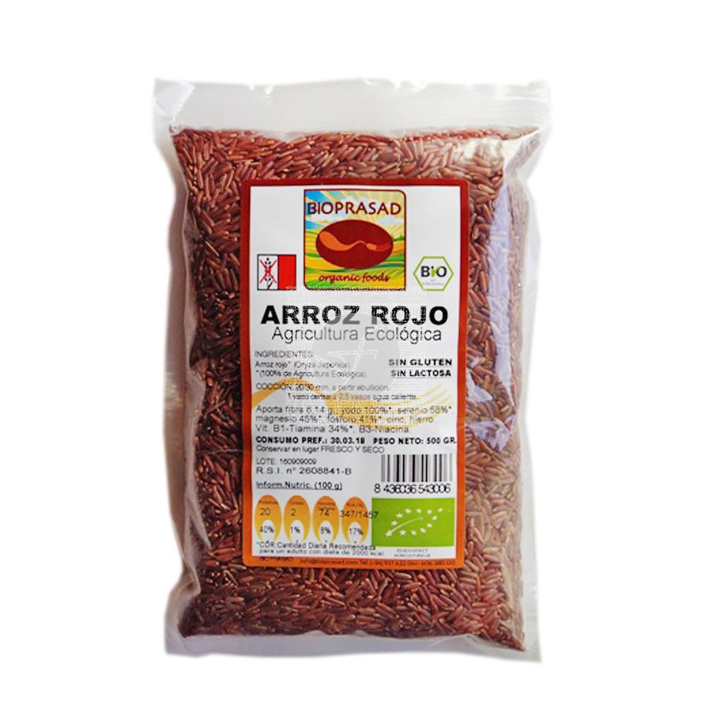 Arroz Rojo Bio sin gluten sin Lactosa Bioprasad