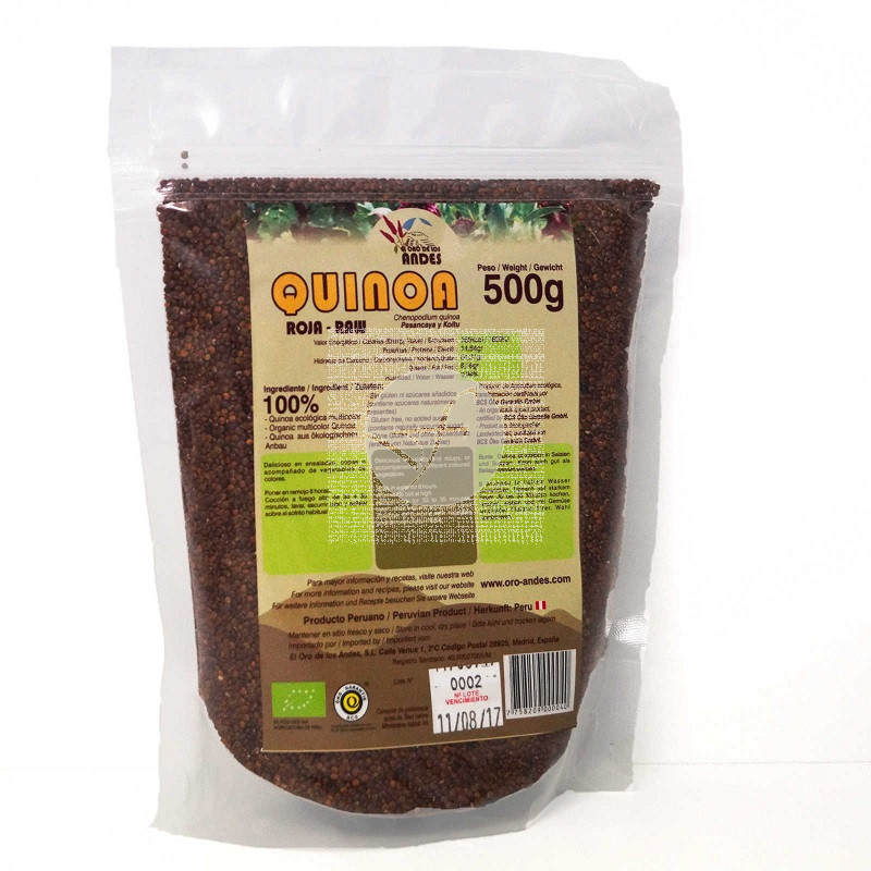 Quinoa Roja En Grano 500Gr El Oro De Los Andes
