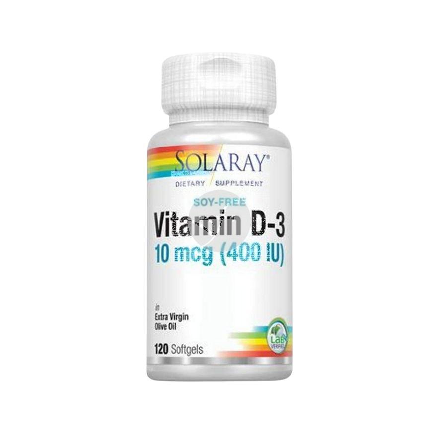 Vitamina D3 400Ui 120perlas Solaray