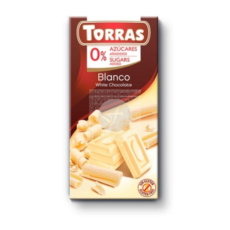 Choco Blanco con Maltitol Torras
