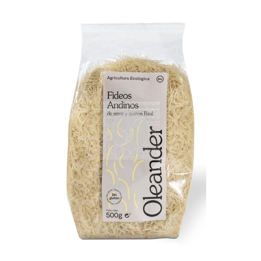 Fideo cabello Angel Andino Arroz y Quinoa 500Gr Oleander