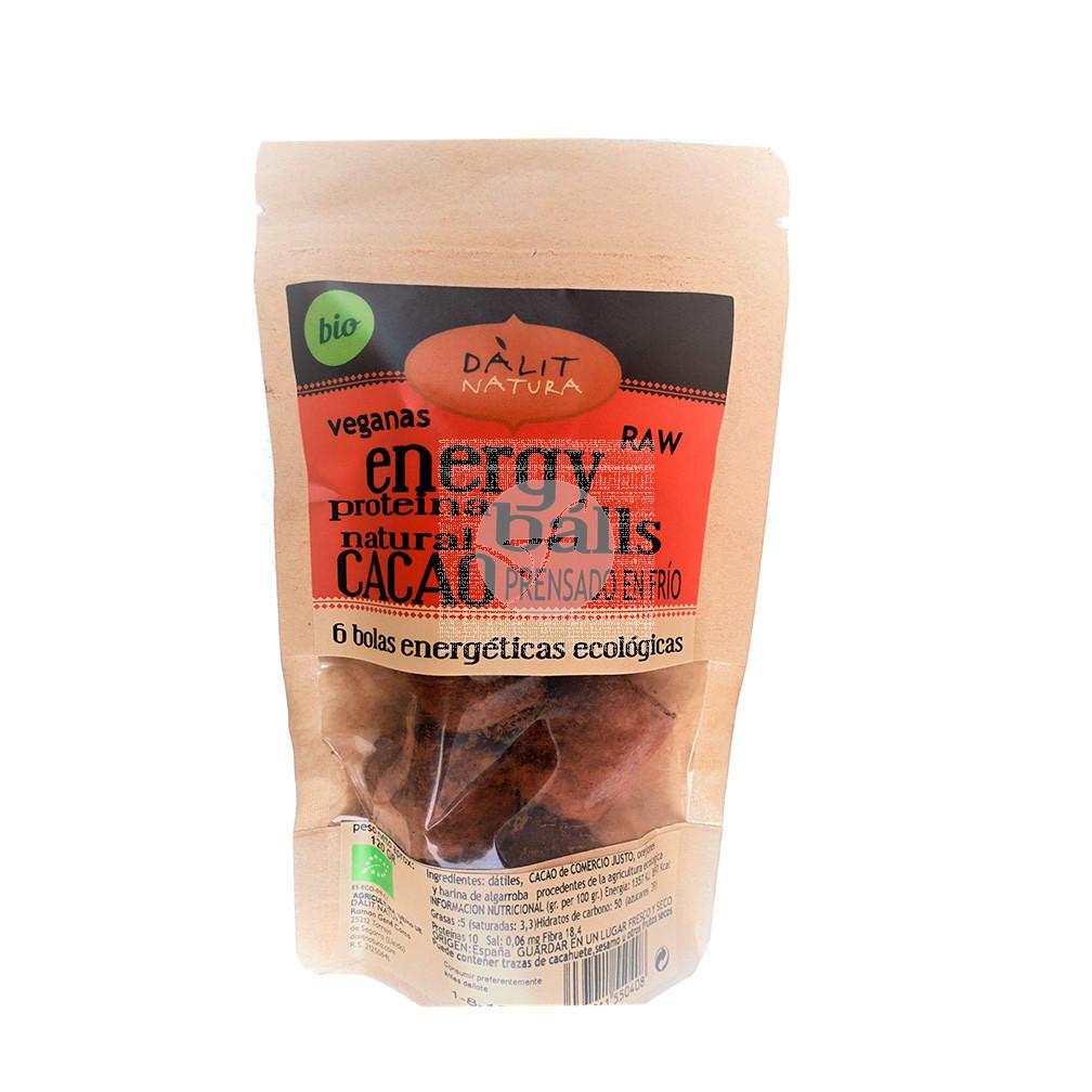 Energy Balls Cacao Bio De Comercio Justo Dalit Natura