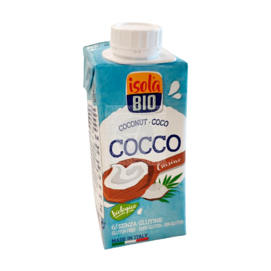 Crema Leche Coco Cocinar Isola Bio