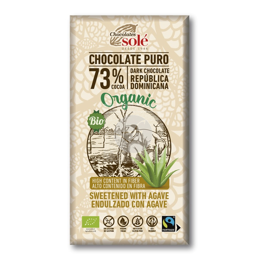 Chocolate Negro 73% con Agave Chocolates Solé
