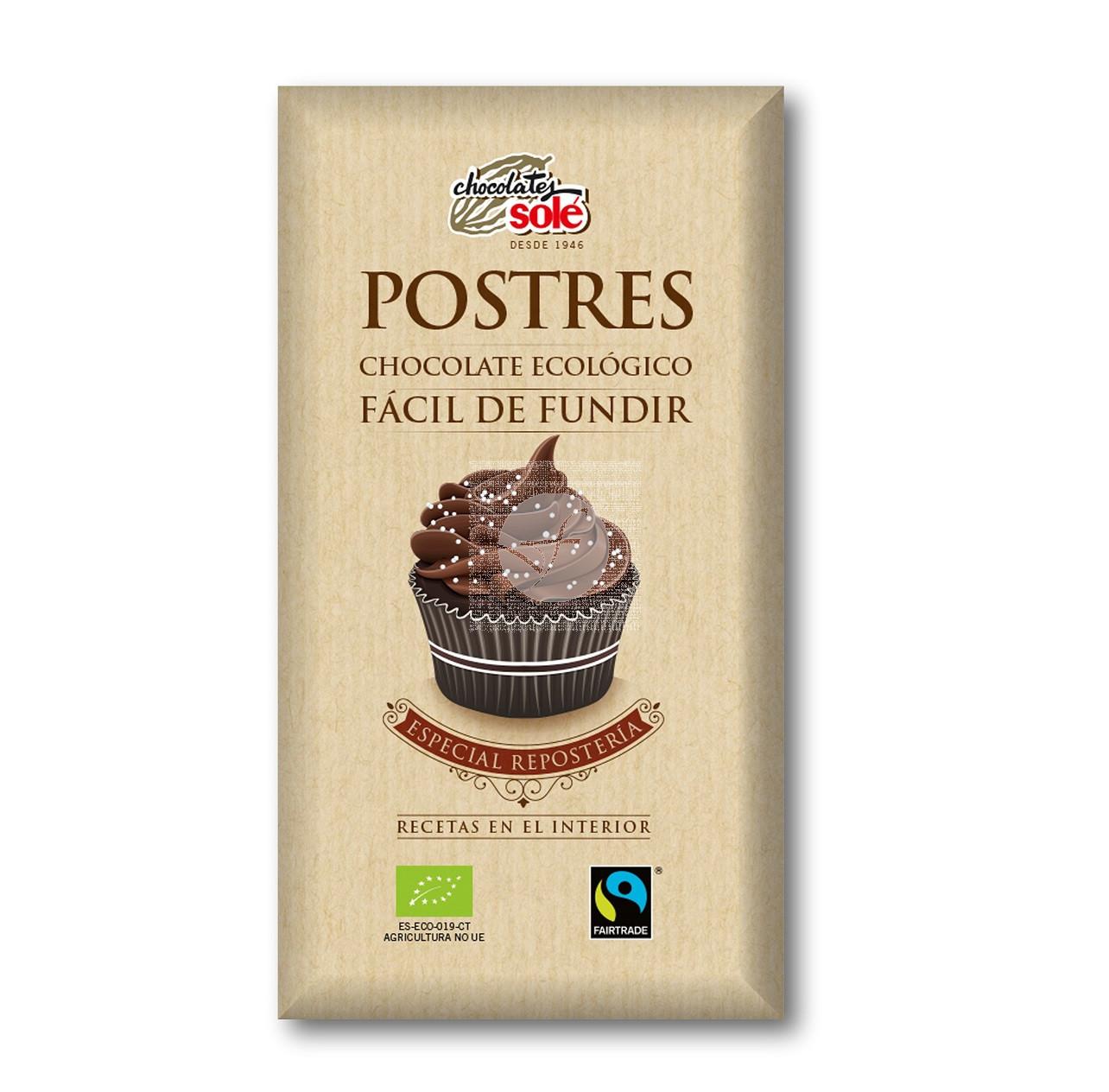 Chocolate para fundir Eco Especial Reposteria Chocolates Sole