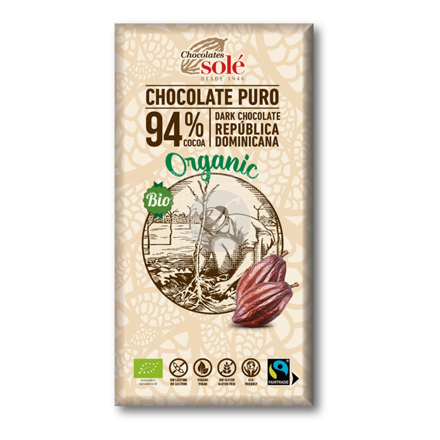 Chocolate Negro 94% Eco Chocolates Sole
