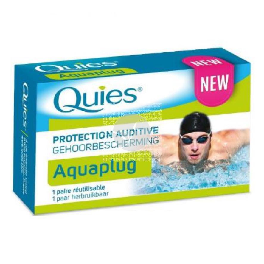 Tapon de oido Silicona Aquaplug adulto 1par Quies